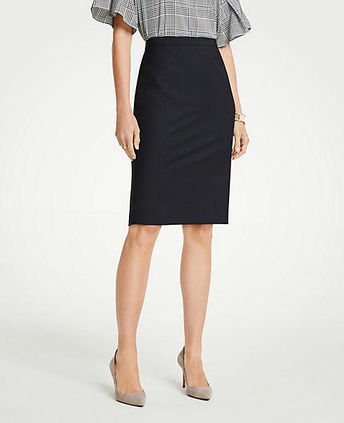 Petite Tropical Wool Pencil Skirt