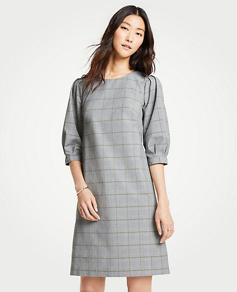 Petite Plaid Shift Dress