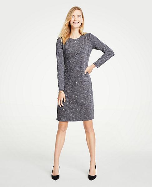 Petite Pearlized Shift Dress
