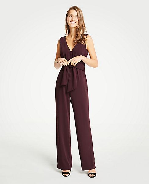 Petite Tie Front Jumpsuit