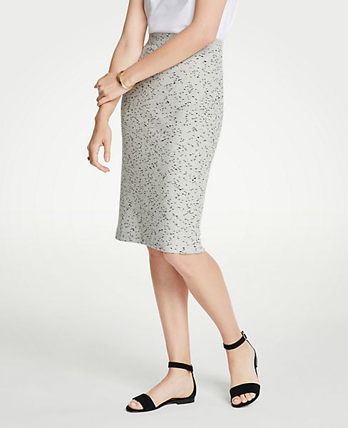 Petite Marled Knit Pencil Skirt