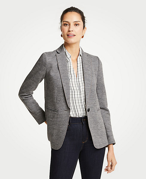 Petite Doubleface One Button Blazer