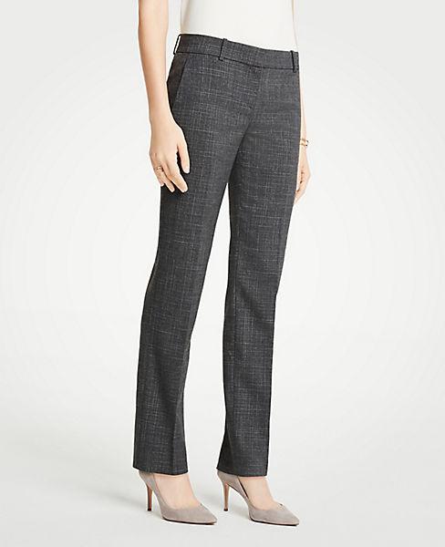 The Petite Straight Leg Pant In Fine Crosshatch