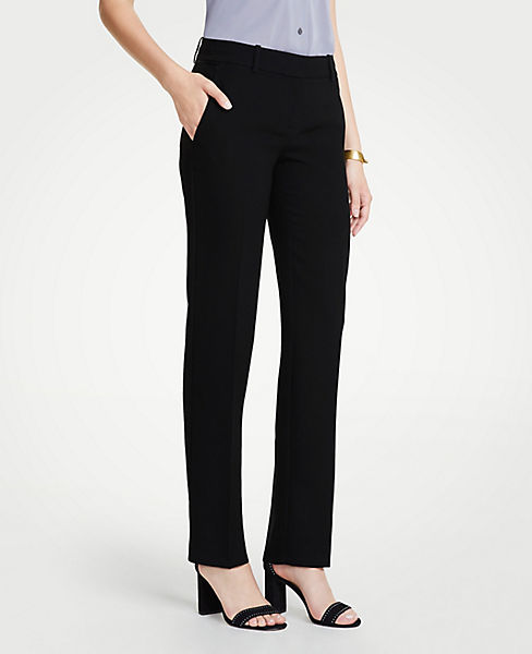 The Petite Straight Pant In Doubleweave - Curvy Fit