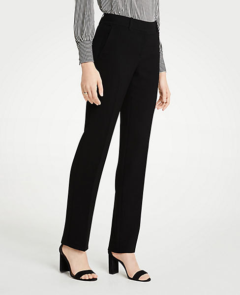 The Petite Straight Leg Pant In Doubleweave - Classic Fit