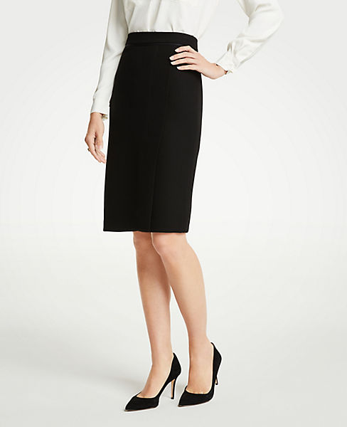 Petite Doubleweave Pencil Skirt