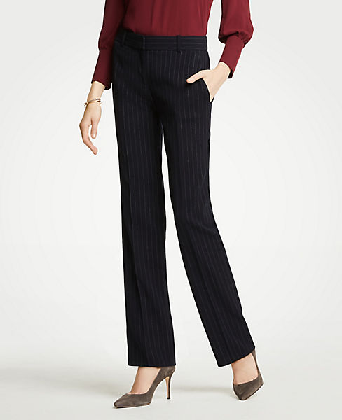 The Petite Straight Leg Pant In Pinstripe - Classic Fit