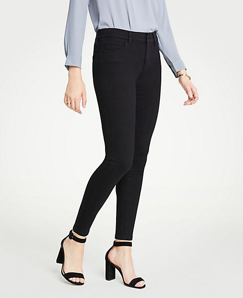 Petite Curvy Performance Stretch Skinny Jeans In Black