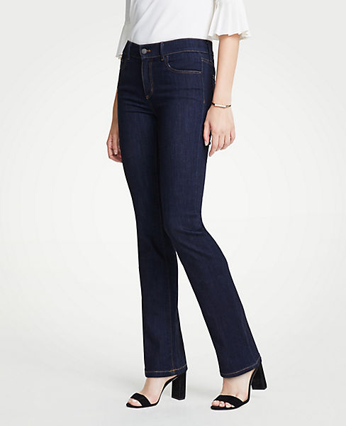 Petite Performance Stretch Boot Cut Jeans in Evening Sea Wash