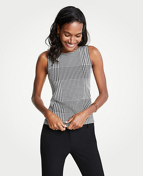 Petite Houndstooth Shell