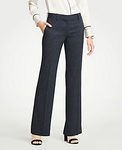 The Madison Trouser In Speckled Twill Curvy Fit