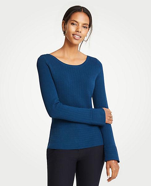 Petite Ribbed Peplum Sweater