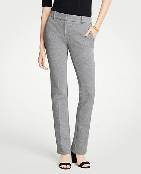 The Petite Straight Leg Pant In Puppytooth - Curvy Fit