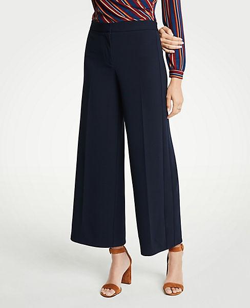 Petite Knit Wide Leg Crop Pants