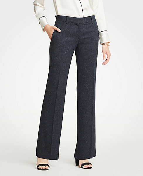 The Petite Madison Trouser In Speckled Twill - Curvy Fit