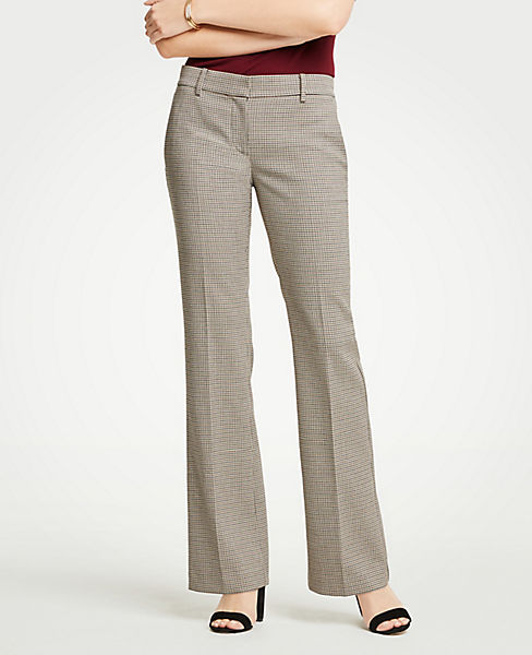 The Petite Madison Trouser In Check - Curvy Fit