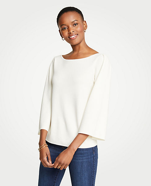Petite Wide Sleeve Sweater