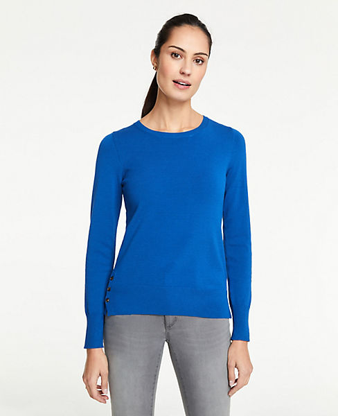 Petite Side Button Sweater