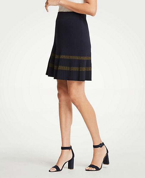 Petite Shimmer Stripe Sweater Skirt
