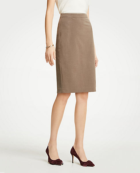 Petite Seasonless Stretch Seamed Pencil Skirt