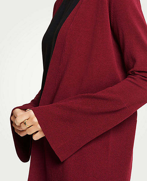 Bell Sleeve Open Cardigan