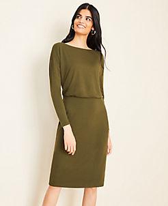 Green Stylish Pee Dresses Wrap Sweater Ann