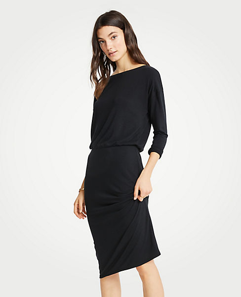 Petite Shirred Sheath Dress