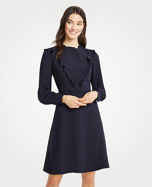 Petite Ruffle Flare Dress