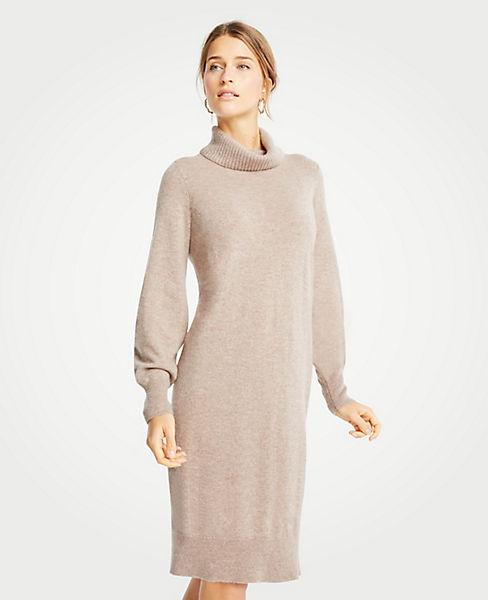 Petite Cashmere Turtleneck Dress