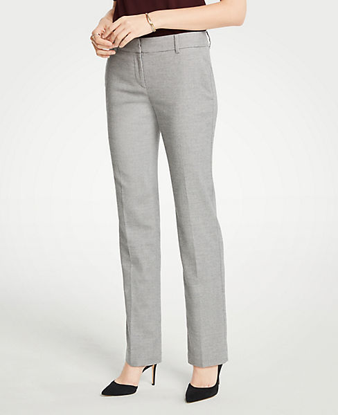 The Petite Straight Leg Pant In Flannel - Curvy Fit