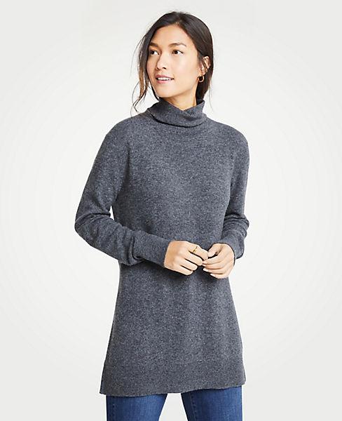 Petite Turtleneck Tunic Sweater