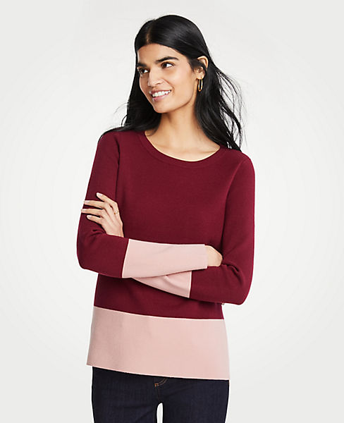 Petite Colorblock Sweater