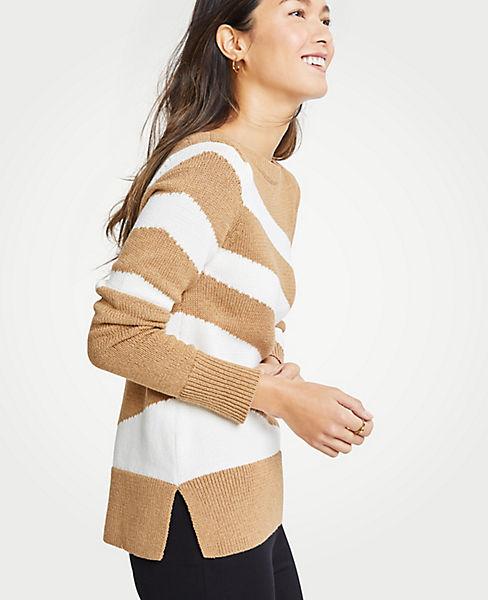 Petite Diagonal Stripe Sweater
