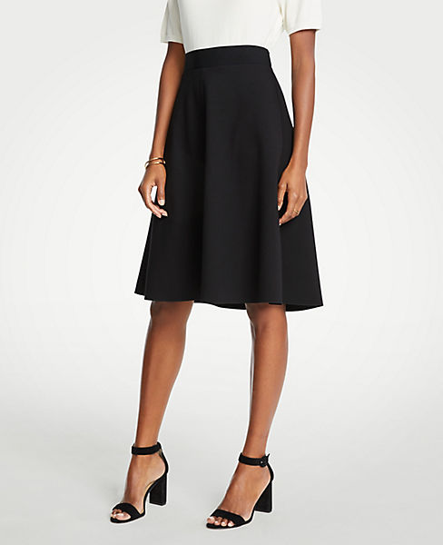 Petite Seamed Ponte Full Skirt