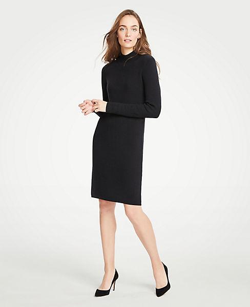 51220222e7dd Petite Turtleneck Sweater Shift Dress