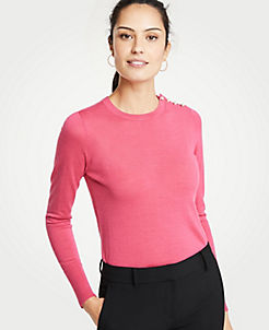 Brown Pink Sweaters For Women On Sale Cozy For Less Ann Taylor