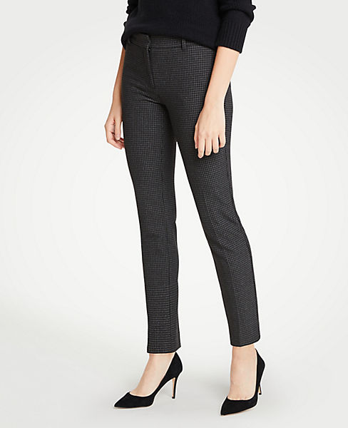 The Petite Ankle Pant In Houndstooth