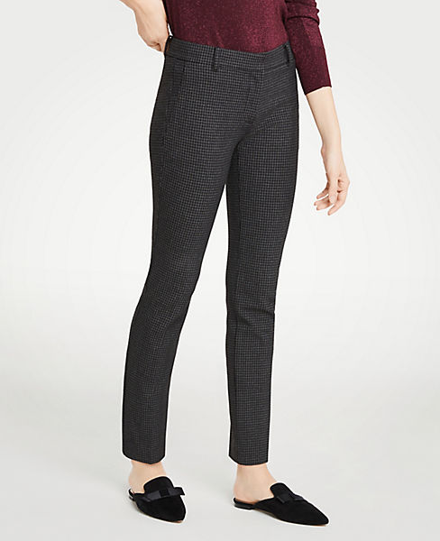 The Petite Ankle Pant In Houndstooth - Curvy Fit