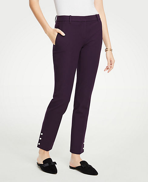 The Petite Ankle Pant with Pearlized Trim
