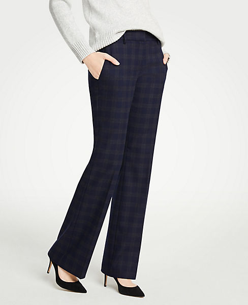 The Petite Madison Trouser In Flannel - Curvy Fit