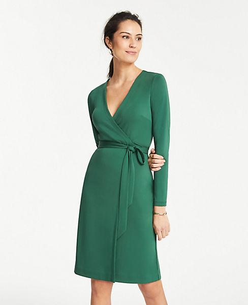 Petite Matte Jersey Wrap Dress