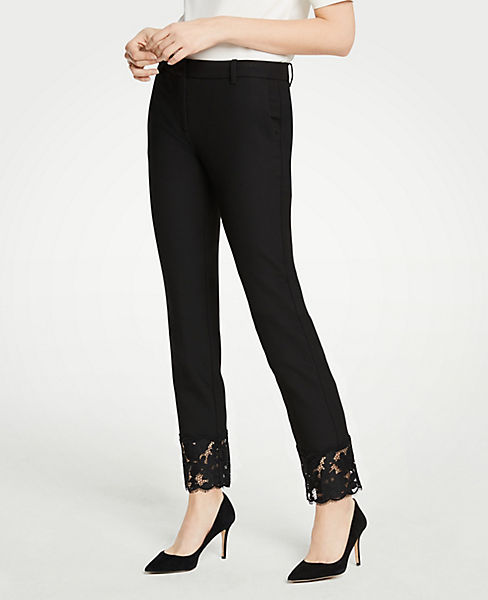 The Petite Ankle Pant With Lace Hem