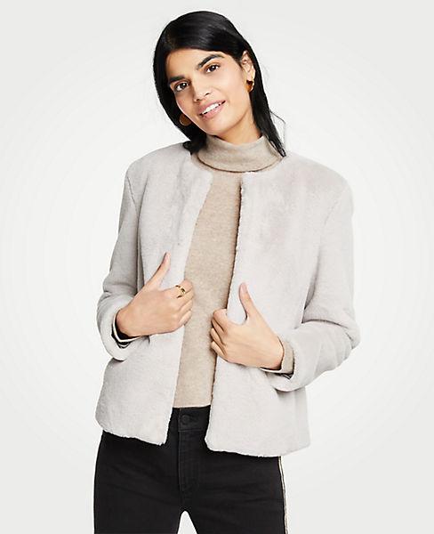 Petite Faux Fur Jacket