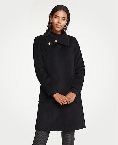 Petite Snappy Funnel Neck Coat
