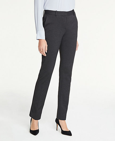 The Petite Straight Leg Pant In Pindot - Curvy Fit