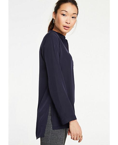 Petite Stitched V-Neck Tunic