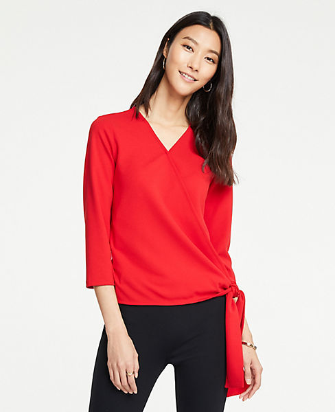 Petite Side Tie Wrap Top