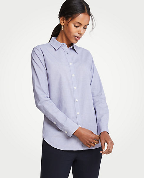 Petite End On End Cotton Perfect Shirt