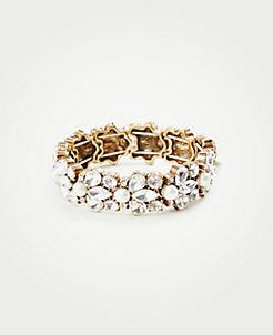 Crystal Pearlized Stretch Bracelet