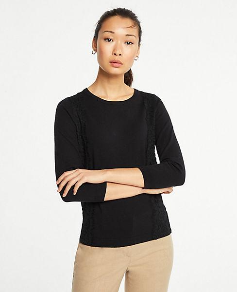 Petite Lace Applique Sweater
